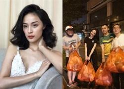 Hạ Vi xinh đẹp với áo hai dây, Angela Phương Trinh phát đồ ăn cho người vô gia cư
