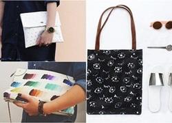 Tự thiết kế túi xách với xu hướng họa tiết đều nhau cực thu hút