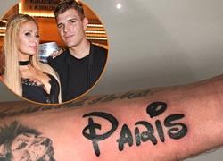Bạn trai thể hiện tình yêu với Paris Hilton bằng hình xăm trên tay