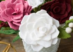 Cách làm hoa hồng giả đẹp như thật không bao giờ tàn