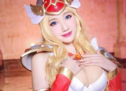 """Cùng ngắm cosplay nữ thần Athena """"ngực đầy"""" trong Vương Giả Vinh Diệu"""
