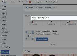 Fanpage trên Facebook tại Việt Nam gặp lỗi không thể chia sẻ bài viết mới