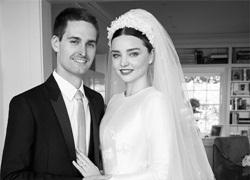 Miranda Kerr và tỷ phú công nghệ lần đầu khoe ảnh cưới đẹp lung linh