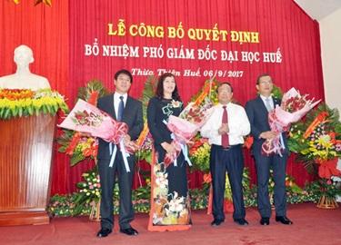 Bộ trưởng GD&ĐT bổ nhiệm 3 phó giám đốc ĐH Huế