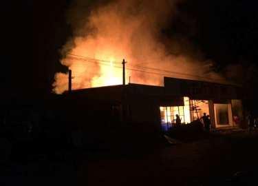 Thái Nguyên: Cháy lớn, thiêu rụi hàng tỷ đồng trong đêm