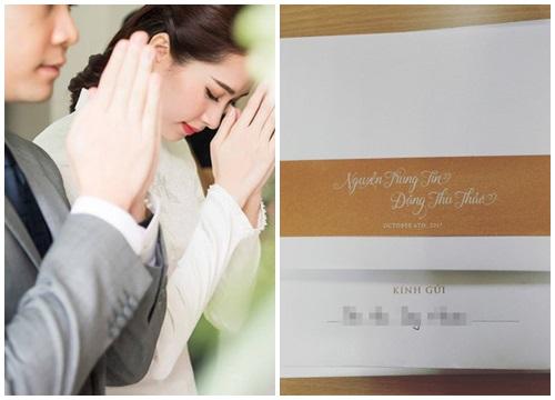 Lộ thiệp mời đám cưới giản dị mà sang trọng của Hoa hậu Đặng Thu Thảo