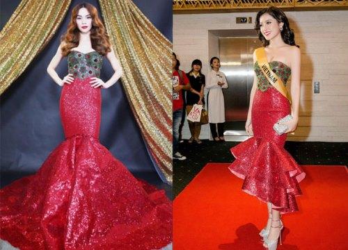 """Chiếc váy xinh đẹp của Huyền My hóa ra là đồ """"tái chế"""" lại của Hồ Ngọc Hà"""