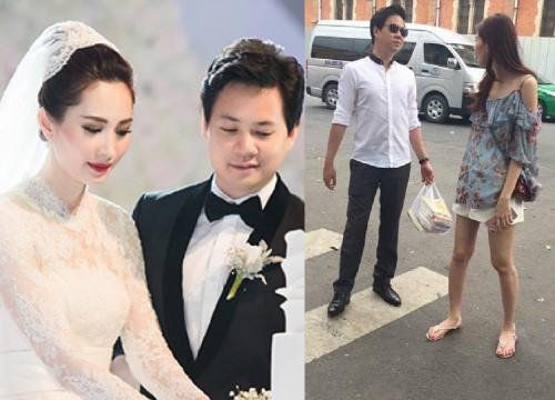 Hậu đám cưới, Hoa hậu Đặng Thu Thảo gầy gò ăn mặc luộm thuộm không ai nhận ra