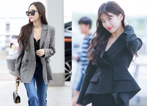 Thu này, chị em công sở chưa biết mặc gì hãy học ngay thời trang sân bay sao Hàn