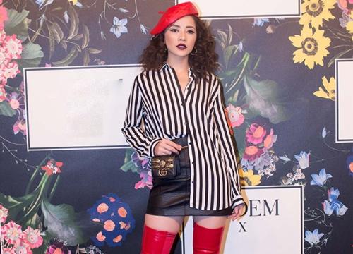 Chi Pu mặc cá tính khi đi xem thời trang tại Mỹ
