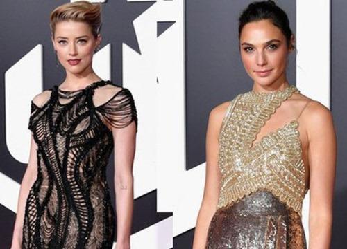 """Dù lắm thị phi nhưng Amber Heard quả thật quá xinh đẹp, """"cân"""" luôn cả Wonder Woman trên thảm đỏ"""