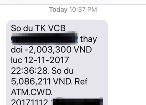 Thêm chủ thẻ ATM Vietcombank báo bị rút trộm tiền lúc nửa đêm