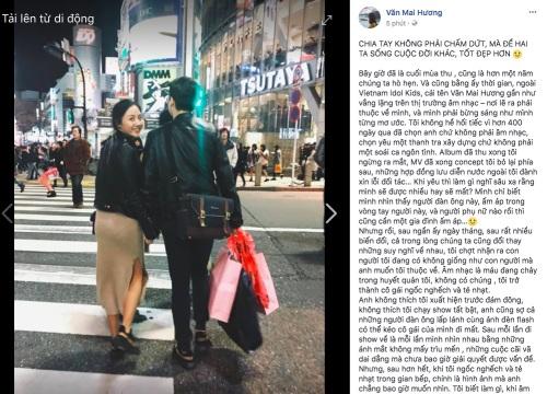 Văn Mai Hương lên tiếng nghi vấn chia tay bạn trai vì người thứ 3