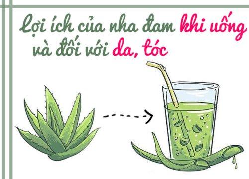 Không chỉ có tác dụng khi uống, nha đam còn là loại mỹ phẩm dành riêng cho da và tóc!