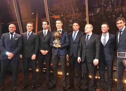 Dàn cựu sao Real hội ngộ tại Paris mừng C. Ronaldo giành Quả bóng vàng