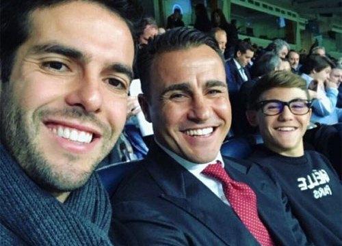Kaka và Cannavaro về lại Bernabeu cổ vũ Real