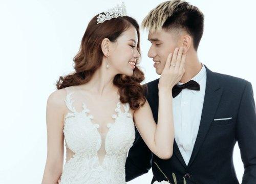 Trung vệ tuyển Việt Nam Đinh Tiến Thành cưới vợ