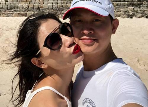 Trang Trần ôm hôn chồng Việt kiều, viết triết lý yêu sau công khai