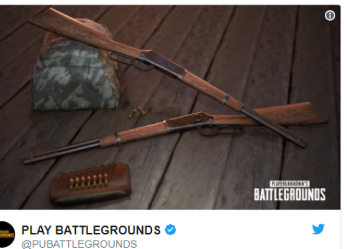 PUBG giới thiệu súng mới Winchester 1894, súng trường thể thao được yêu thích nhất thế giới