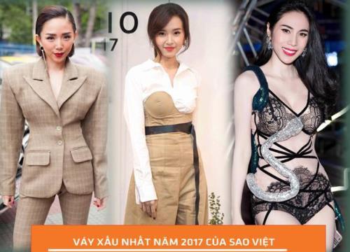 """Top những bộ váy """"XẤU KHÔNG THỂ CỨU"""" của Sao Việt năm 2017!"""