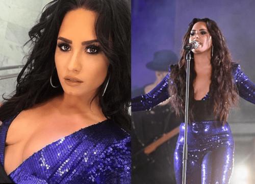 Demi Lovato 'chơi lớn' đầu năm khi diện trang phục 'thả rông' đốt mắt khán giả
