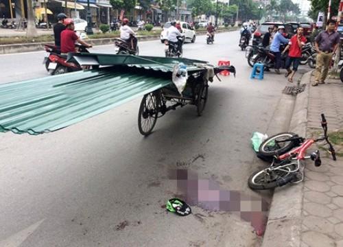 Người đàn ông chết thảm vì va chạm với xe chở tôn cồng kềnh