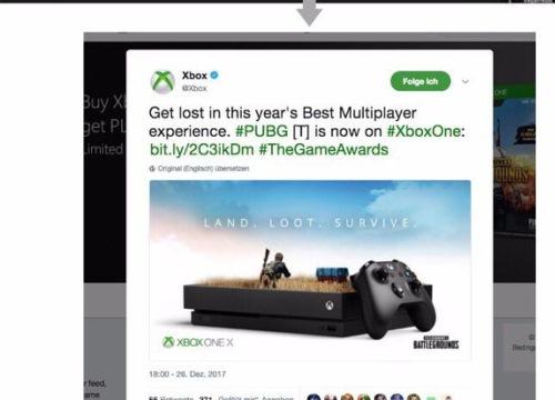 Ảnh quảng cáo PUBG phiên bản Xbox bị tố 'đạo' trắng trợn ý tưởng của người khác