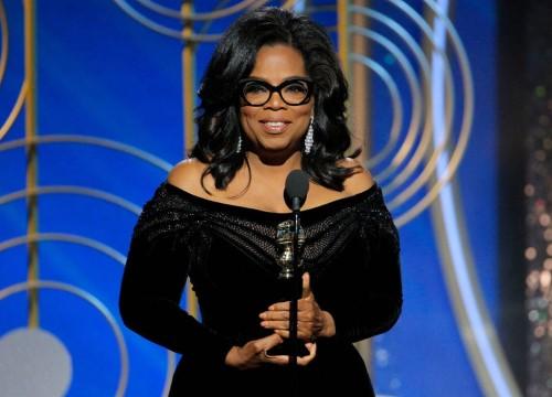 Hàng loạt khán giả phải rơi nước mắt trước bài diễn văn của Oprah Winfrey tại Quả Cầu Vàng 2018