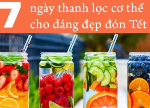 7 công thức nước uống thải độc giúp cơ thể nhẹ nhõm cả tuần