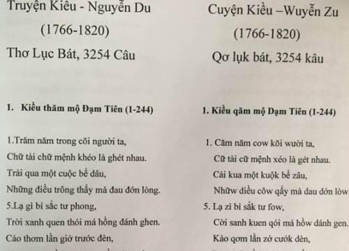 PGS Bùi Hiền viết lại 'Truyện Kiều' bằng chữ cải tiến