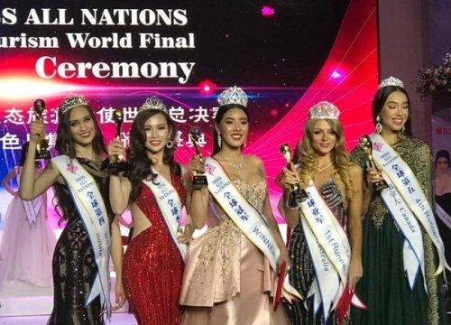 Kiều nữ Sài Thành có vòng 3 gần 1 mét bất ngờ đăng quang Á hậu các quốc gia 2017