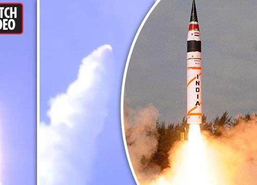 Xem Ấn Độ phóng tên lửa mạnh nhất, đủ sức bao phủ toàn lãnh thổ TQ