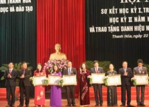 """7 nhà giáo được phong tặng Danh hiệu """"Nhà giáo ưu tú"""""""