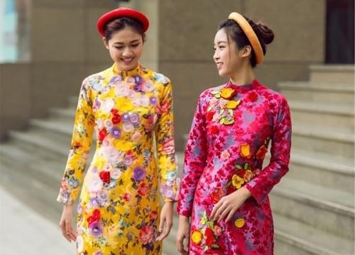 Không phải áo dài 'Cô Ba Sài Gòn', áo dài hoa mới là kiểu áo dài xinh tươi diện Tết không thể bỏ qua