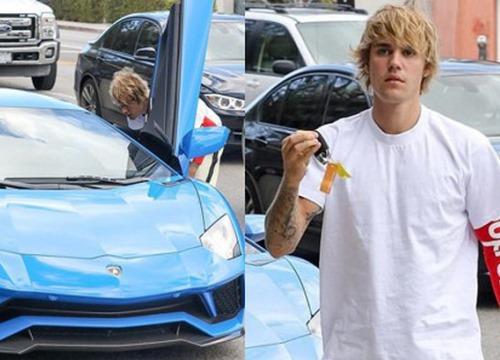 Justin Bieber lái siêu xe 10 tỷ và đi giày 110 triệu đồng chỉ để đến phòng gym