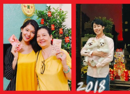 Sao Việt quây quần bên gia đình, nô nức gửi lời chúc tụng giữa thời khắc giao thời đón Xuân Mậu Tuất