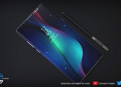 Tròn mắt trước Galaxy Note 9 với thiết kế gần như không tồn tại viền