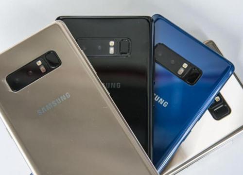 Galaxy Note 9 sẽ không có cảm biến vân tay nhúng vào màn hình