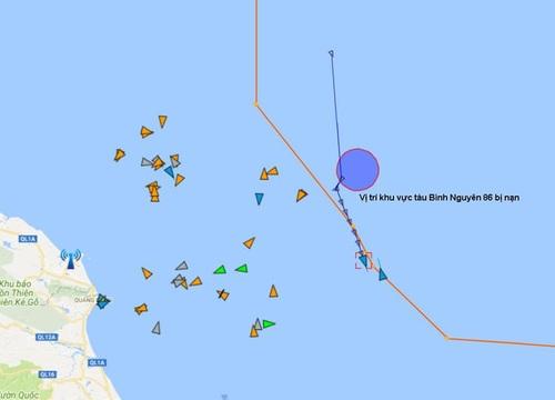 Cứu 8 thuyền viên bị chìm tàu trên biển Hà Tĩnh