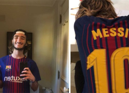 Con trai Mourinho thể hiện tình yêu 'gây tranh cãi' với Barca