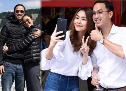 Giữa tin đồn mang bầu lần 3, Tăng Thanh Hà liên tục e ấp diện đồ đôi với chồng