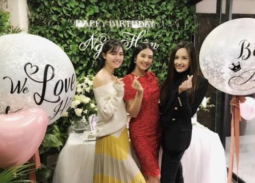 Mai Phương Thúy, Á hậu Thanh Tú tới chúc mừng sinh nhật Hoa hậu Ngọc Hân