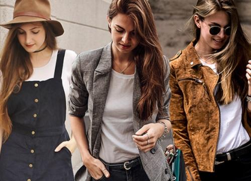 Phối trang phục đẹp cùng kiểu áo thun đơn giản
