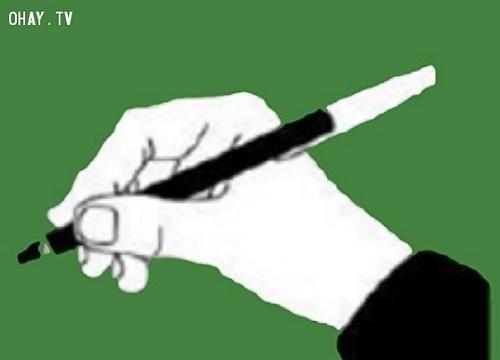 Trắc nghiệm hay: Cách cầm bút tiết lộ bạn là người lý tính hay cảm tính