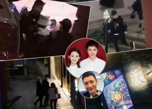 Sau thông báo có thai, paparazzi phát hiện Phùng Thiệu Phong - Triệu Lệ Dĩnh xuất hiện tại nhà hàng của Huỳnh Hiểu Minh