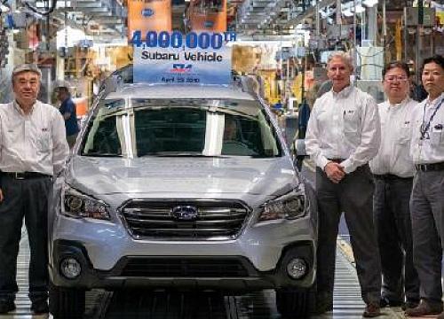 Subaru xuất xưởng chiếc xe thứ 4 triệu tại Mỹ