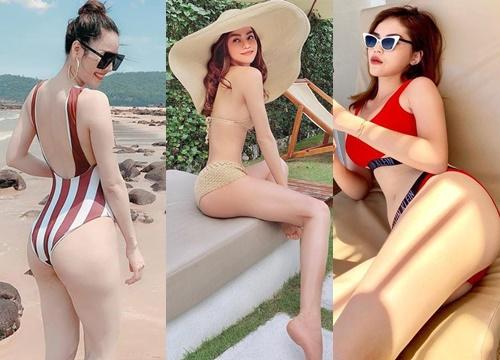 Dù không có đường cong 'đặc sản' của Angela Phương Trinh, biển hè năm nay vẫn sôi động với loạt mỹ nhân khoe hình thể gợi cảm