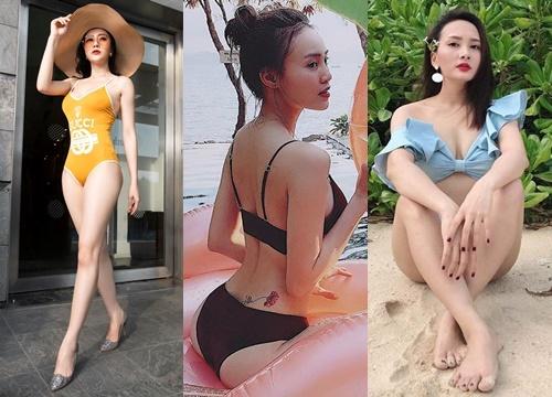 """Sao truyền hình mặc đồ tắm: """"Quỳnh búp bê"""" hay Bảo Thanh là nữ hoàng bikini?"""