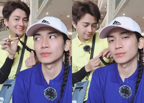 Sau tuyên bố 'là vợ chồng', Ngô Kiến Huy và BB Trần lại gây sốt với ảnh tình tứ làm đẹp cho nhau