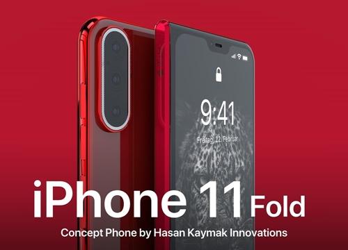 Ngả mũ trước vẻ đẹp của iPhone 11 Fold với màn hình gập được